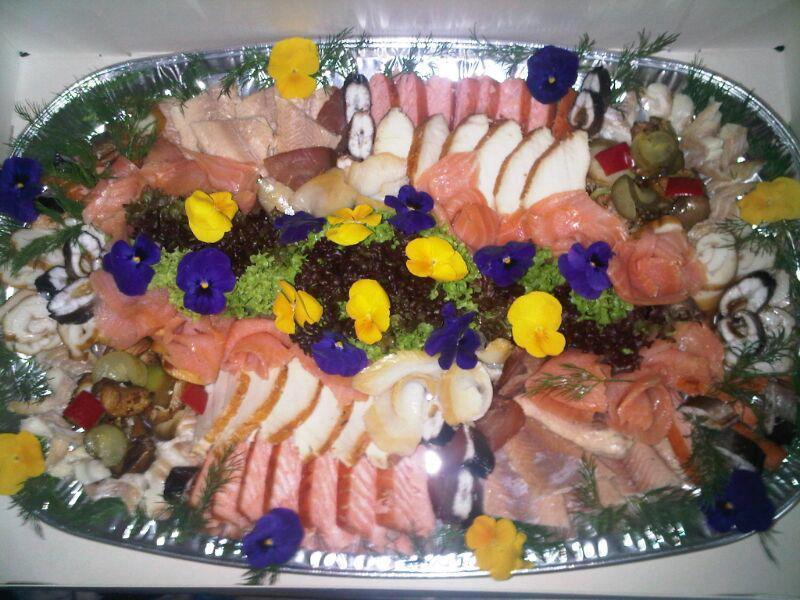 Fischplatte für Veranstaltung